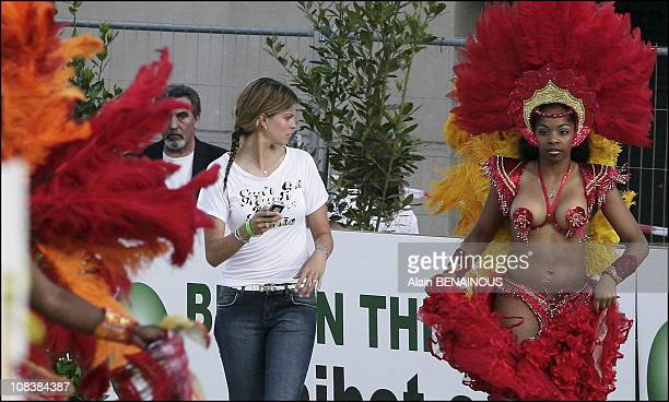 Athina Onassis and her husband Alvaro Alfonso de Miranda at the Monte Carlo International Jumping in Monaco on June 23 2006