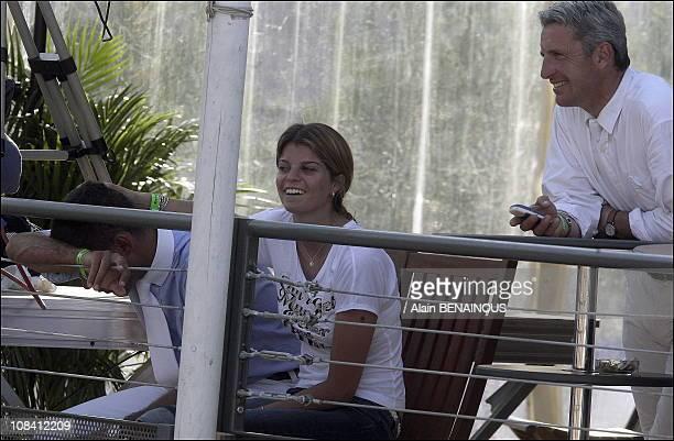 Athina Onassis and her husband Alvaro Alfonso de Miranda at the Monte Carlo International Jumping in Monaco on June 23 2006
