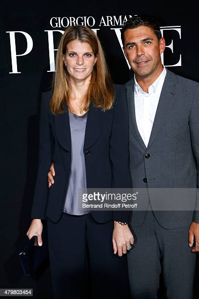 Athina Onassis and her husband Alvaro de Miranda Neto attend the Giorgio Armani Prive show as part of Paris Fashion Week HauteCouture Fall/Winter...