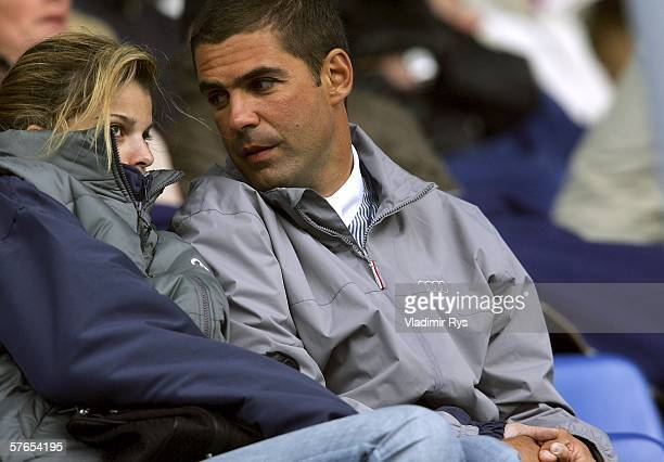 Athina Onassis and her husband Brazilian Alvaro Affonso de Miranda Neto known as Doda watch the competition during the Mercedes Benz Prize Nations...