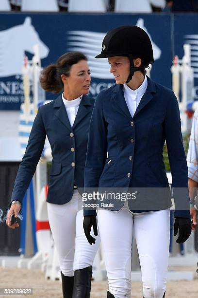 Athina Onassis and Pilar Lucrecia Cordon attends International Longines Global Champion Tour Day 2 on June 10 2016 in Cannes France