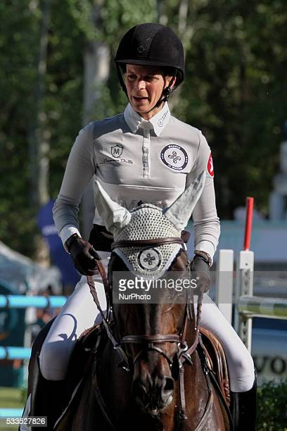 Athina Onassis attends Global Champions Tour Horse Tournament on May 22 2016 in Madrid Spain