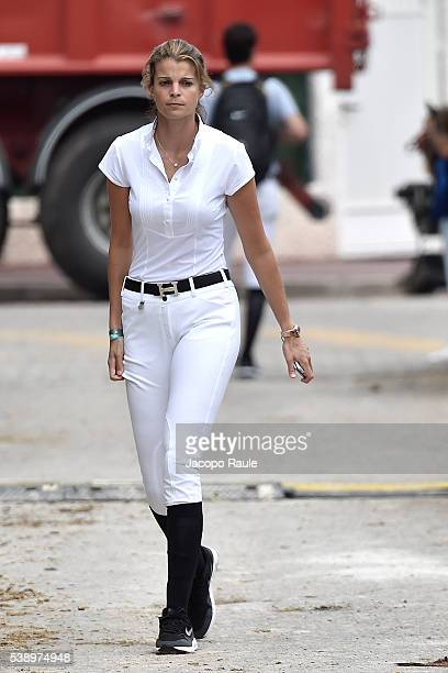 Athina Onassis attends International Longines Global Champion Tour Day 1 on June 9 2016 in Cannes France