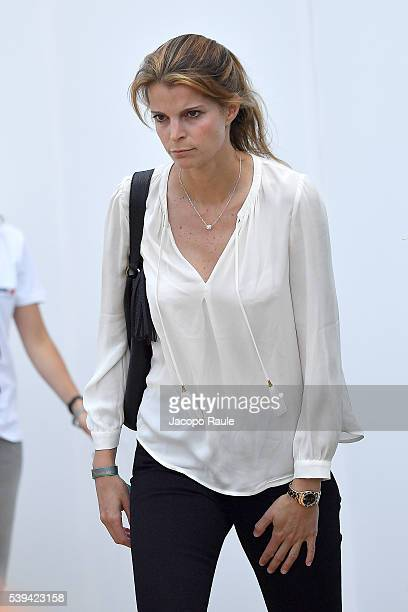 Athina Onassis attends International Longines Global Champion Tour Day 3 on June 11 2016 in Cannes France