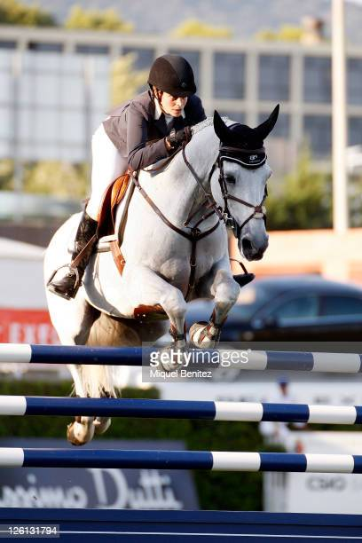 Athina Onassis attends the CSIO Barcelona 100th International Show Jumping Competition at the Real Club de Polo on September 22 2011 in Barcelona...