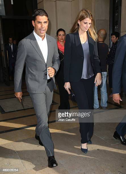 Athina Onassis de Miranda and husband Alvaro de Miranda Neto aka Doda attend Giorgio Armani Prive fashion show at the Palais de Chaillot at Trocadero...
