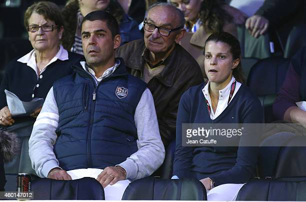 Athina Onassis de Miranda and husband Alvaro de Miranda Neto better known as Doda attend day 3 of the Gucci Paris Masters 2014 at Parc des...