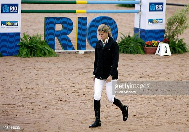 Athina Onassis de Miranda during the Athina Onassis International Horse Show at the Sociedade Hipica Brasileira on September 02 2011 in Rio de...