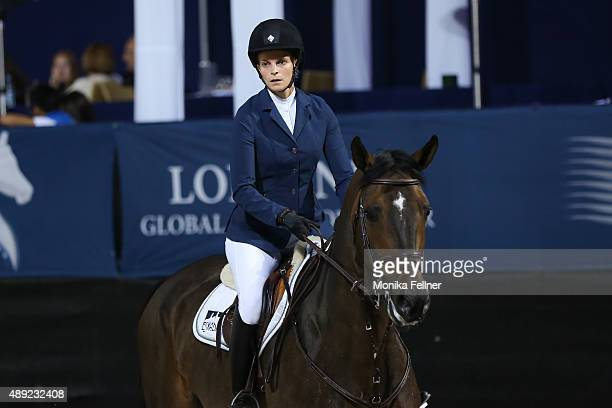Athina Onassis de Miranda participates the Longines Global Champions Tour Vienna presented by LGT during the Vienna Masters on September 19 2015 in...