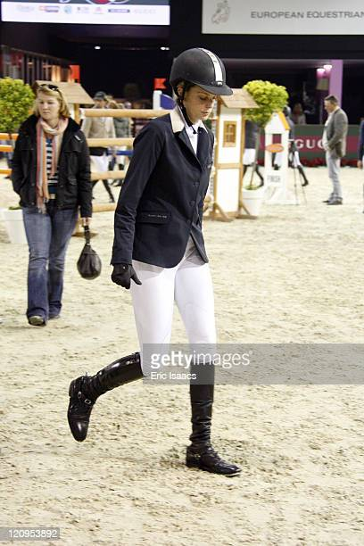 Athina Onassis de Miranda rides and competes during the Gucci Masters Competition at Paris Nord Villepinte on December 11 2009 in Paris France