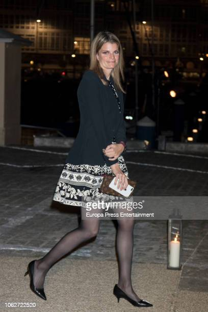 Athina Onassis is seen attending Marta Ortega's Wedding preparty at Nautical Club on November 16 2018 in A Coruna Spain