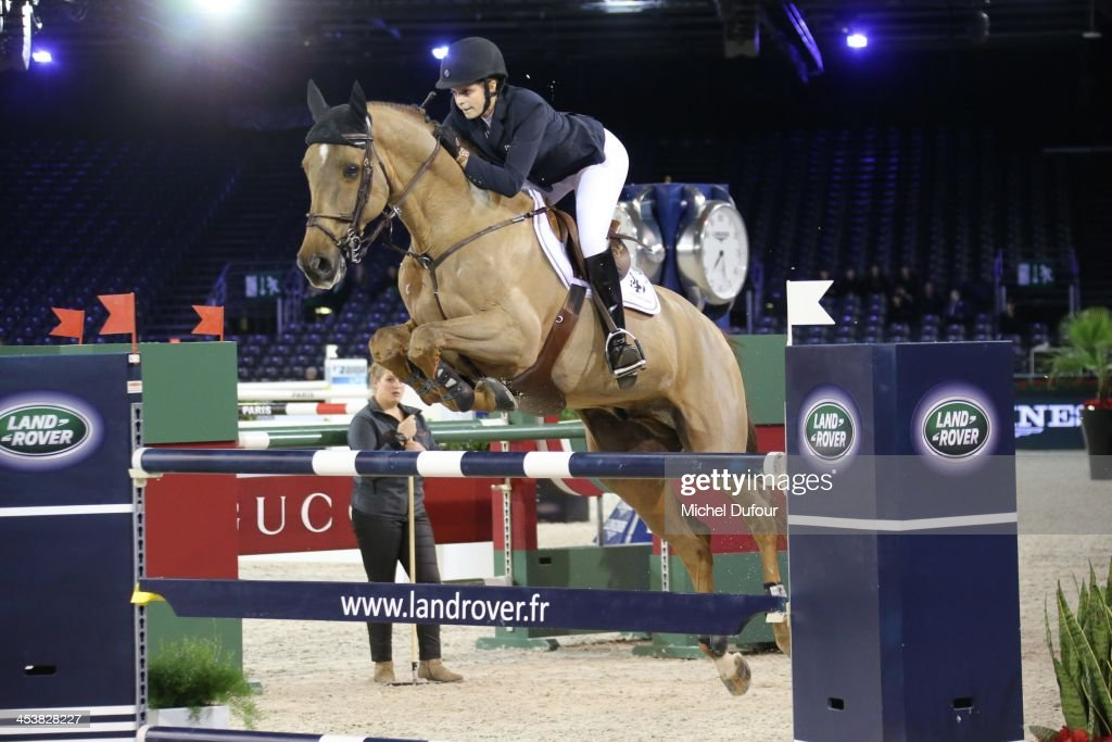Athina Onassis Miranda rides while the Gucci Paris Masters 2013 - Day 1 at Paris Nord Villepinte on December 5, 2013 in Paris, France.