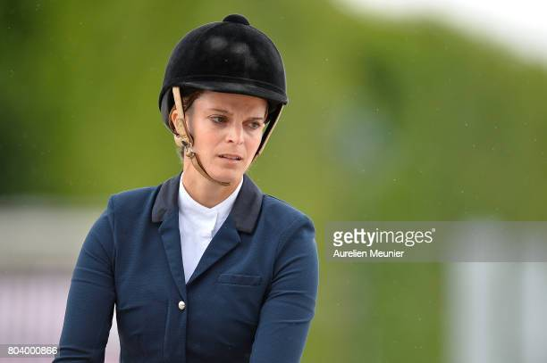 Athina Onassis of Greece and Rackham Jo compete on day 1 in the 4th Longines Paris Eiffel Jumping competiton on June 30 2017 in Paris France