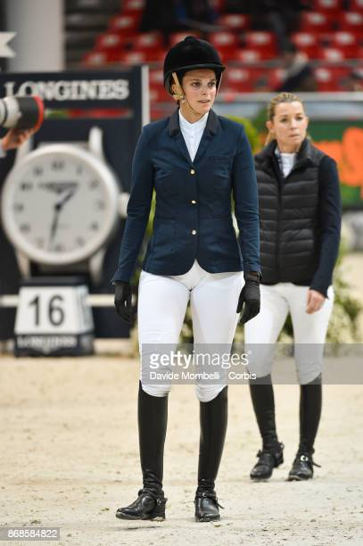 Athina Onassis of Greece during walking course of Longines FEI Word Cup presented by BMW in JumpingVerona on October 29 2017 in Verona Italy