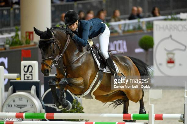 Athina Onassis of Greece riding Mhs Going Global during the Longines FEI Jumping World Cup Verona 2018 CSI5*W on October 28 2018 in Verona Italy