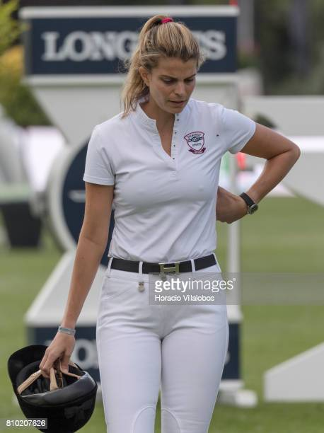 Athina Onassis of Greece walks the grounds before competing during the first day of Longines Global Champion Tour on July 7 2017 in Cascais Portugal