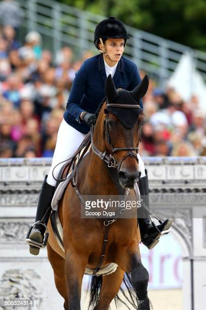 Athina ONASSIS riding MHS GOING GLOBAL during Global Champions League of the Longines Paris Eiffel Jumping on July 1 2017 in Paris France