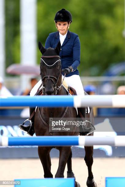 Athina ONASSIS riding RACKHAM'JO during the Prix Renault Mobility of the Longines Paris Eiffel Jumping on June 30 2017 in Paris France