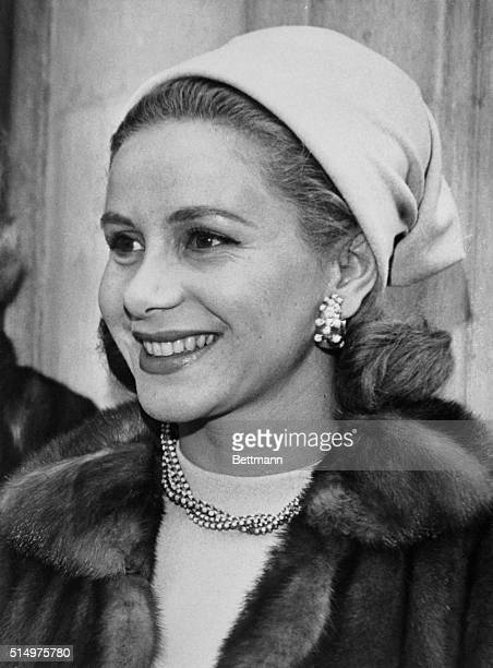 Athina Onassis the wife of Greek shipping and airlines magnate Aristotle Onassis is shown