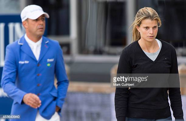 Athina Onassisde Miranda and Alvaro de Miranda Neto during the Longines Global Champions Tour at Horse Guards Parade on August 15 2014 in London...