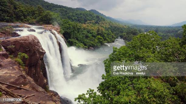 athirappilly waterfall - beauty in nature stock pictures, royalty-free photos & images