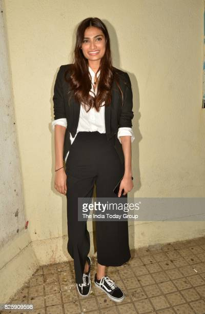 Athiya Shetty during the screening of the film Mubarakan in Mumbai