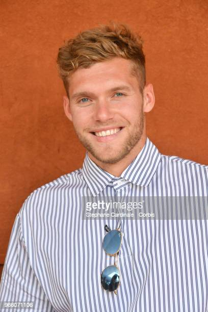 Athlet Kevin Mayer attends the 2018 French Open Day Seven at Roland Garros on June 2 2018 in Paris France