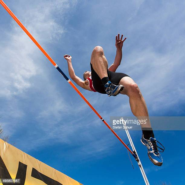 Athlete, 44 years, high jumping, Winterbach, Baden-Wurttemberg, Germany
