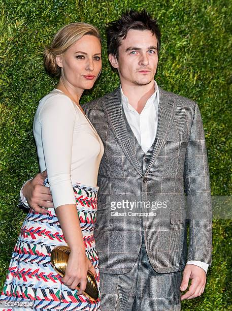 Athlete Aimee Mullins and actor Rupert Friend attend the 11th Annual Chanel Tribeca Film Festival Artists Dinner at Balthazar on April 18 2016 in New...