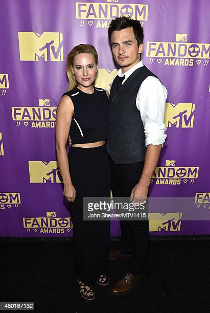 Athlete Aimee Mullins and actor Rupert Friend attend the MTV Fandom Awards San Diego at PETCO Park on July 9 2015 in San Diego California
