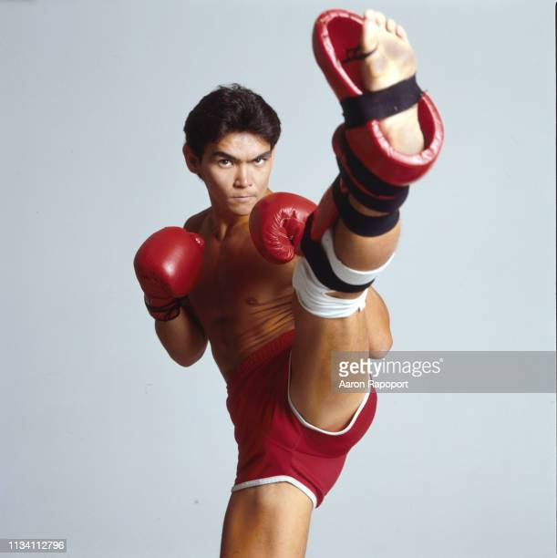 Athlete and kickboxing champion Don Wilson posses for a portrait in December 1987 in Los Angeles California