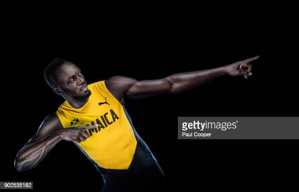 Athlete and sprinting legend Usain Bolt is photographed on October 30 2017 in London England