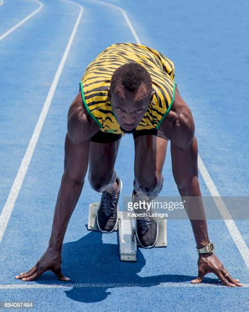 Athlete and world record sprinter Usain Bolt is photographed for the Telegraph on April 16 2016 in Kingston Jamaica