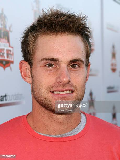 Athlete Andy Roddick arrives at the 1st Annual Celebrity Bowling Night to Benefit the Matt Leinart Foundation held at Lucky Strike on July 12 2007 in...