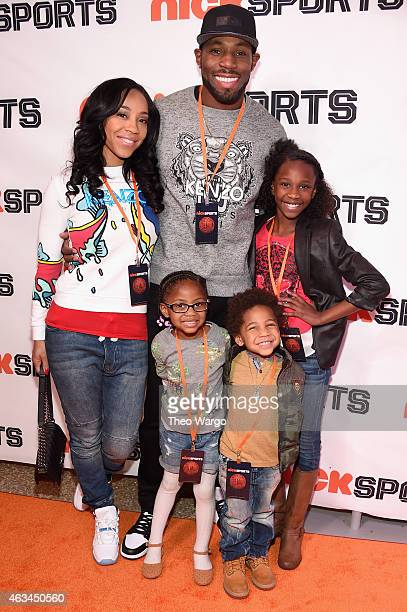 NFL athlete Antonio Cromartie and family attend NICKSPORTS special screening and party for Little Ballers Documentary at Chelsea Piers on February 14...