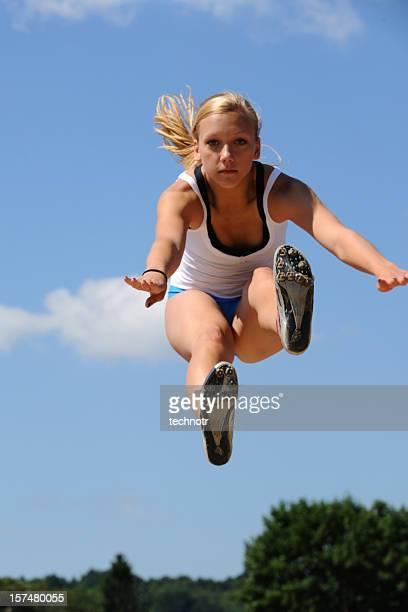 Athlete at long jump