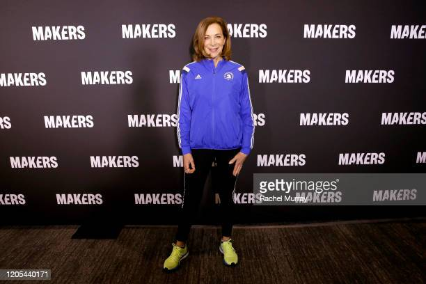 Athlete Author Advocate Kathrine Switzer attends onstage during The 2020 MAKERS Conference at the InterContinental Los Angeles Downtown on February...