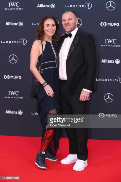 Athlete Bibian MentelSpee and guest attend the 2018 Laureus World Sports Awards at Salle des Etoiles Sporting MonteCarlo on February 27 2018 in...