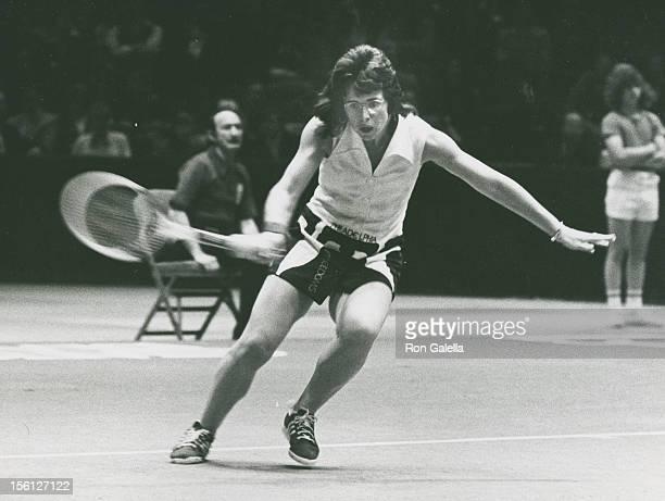 Athlete Billie Jean King attends World Tennis League Games on May 6 1974 at Spectrum Stadium in Philadelphia Pennsylvania