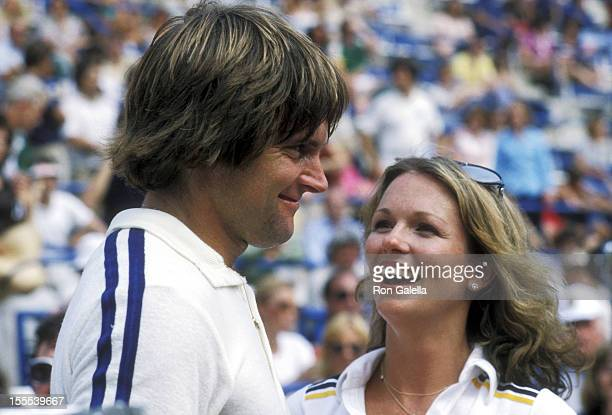 Athlete Bruce Jenner and TV personality Phyllis George attend the Eighth Annual Robert F Kennedy ProCelebrity Tennis Tournament on August 25 1979 at...