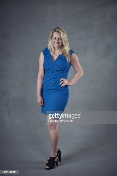 Athlete Chemmy Alcott poses for a portrait session at the Women's Sport Trust #BeAGameChanger Awards 2017 sponsored by Microsoft at the Troxy on May...
