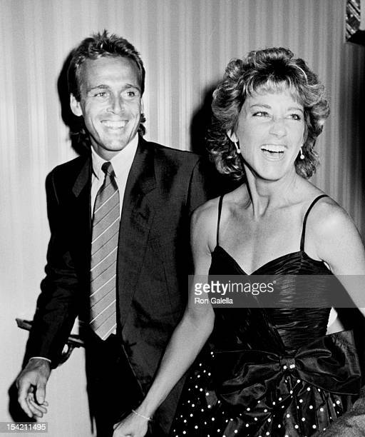 Athlete Chris Evert and husband John Lloyd attend Eight Annual Women's Tennis Association Awards Banquet on August 26 1985 at the Waldorf Hotel in...