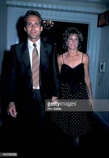 Athlete Chris Evert and husband John Lloyd attend Eighth Annual Women's Tennis Association Awards Banquet on August 26 1985 at the Waldorf Hotel in...