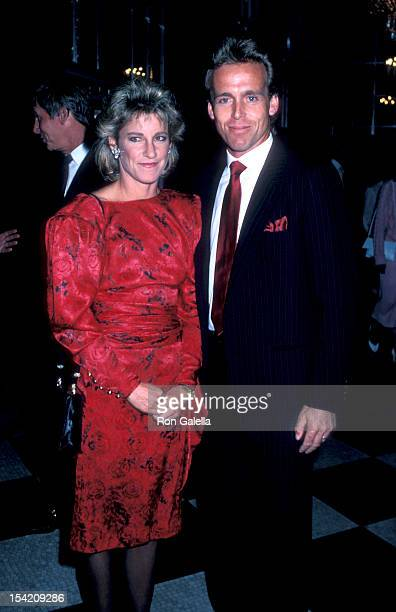 Athlete Chris Evert and husband John Lloyd attend Nineth Annual Women's Tennis Association Awards Banquet on August 25 1986 at the Waldorf Hotel in...
