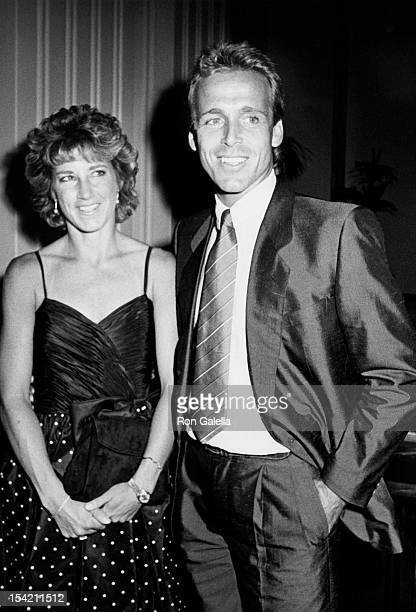 Athlete Chris Evert and husband John Lloyd attends Eight Annual Women's Tennis Association Awards Banquet on August 26 1985 at the Waldorf Hotel in...