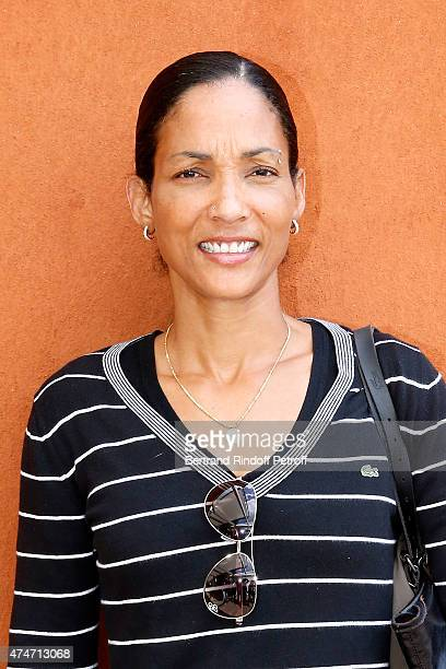 Athlete Christine Arron attends the 2015 Roland Garros French Tennis Open Day 2 on May 25 2015 in Paris France