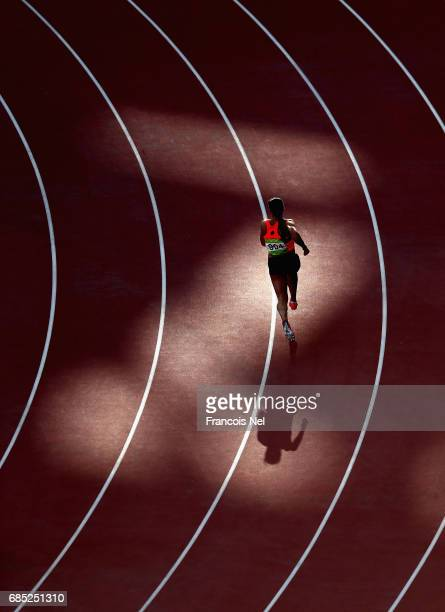A athlete competes during day eight of Baku 2017 4th Islamic Solidarity Games at the Baku Olympic Stadium on May 19 2017 in Baku Azerbaijan
