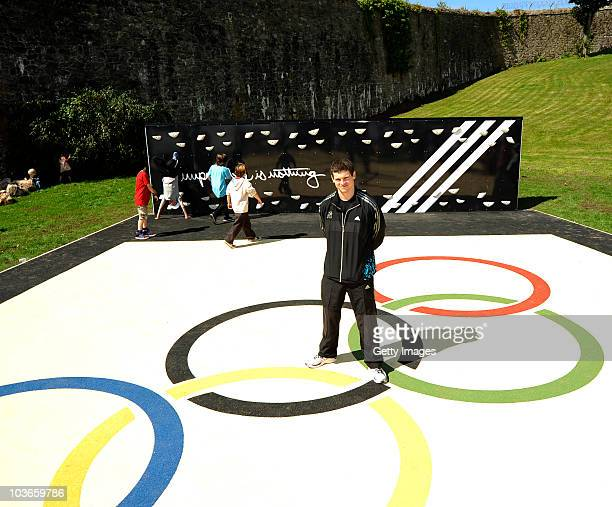 Athlete Craig Pickering attends the opening of the adidas London 2012 adiZone an outdoor gym facility on August 27 2010 in Plymouth England
