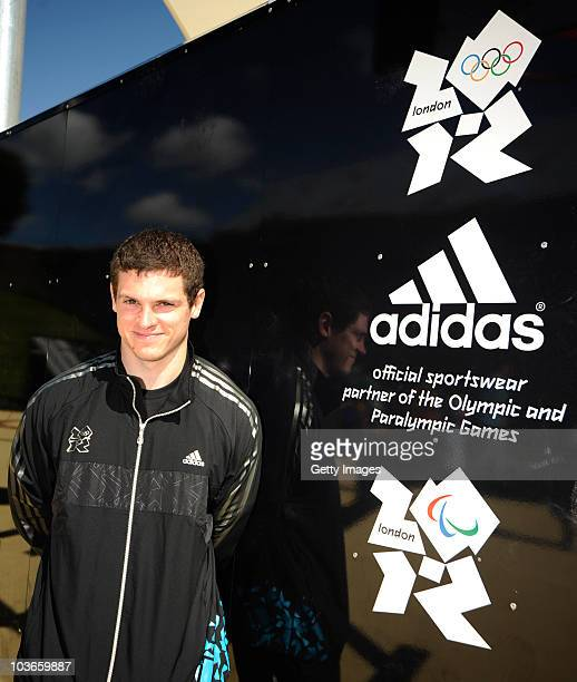 Athlete Craig Pickering poses at the opening of the adidas London 2012 adiZone an outdoor gym facility on August 27 2010 in Plymouth England