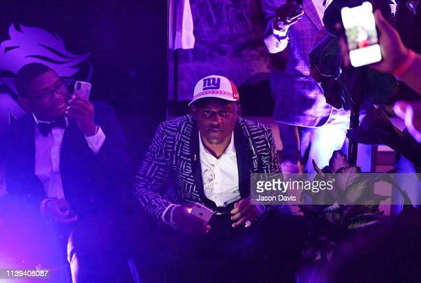 Athlete Deandre Baker celebrates with friends and family at the Young Money APAA Sports NFL Draft After Party at 21c Museum Hotel Nashville on April...